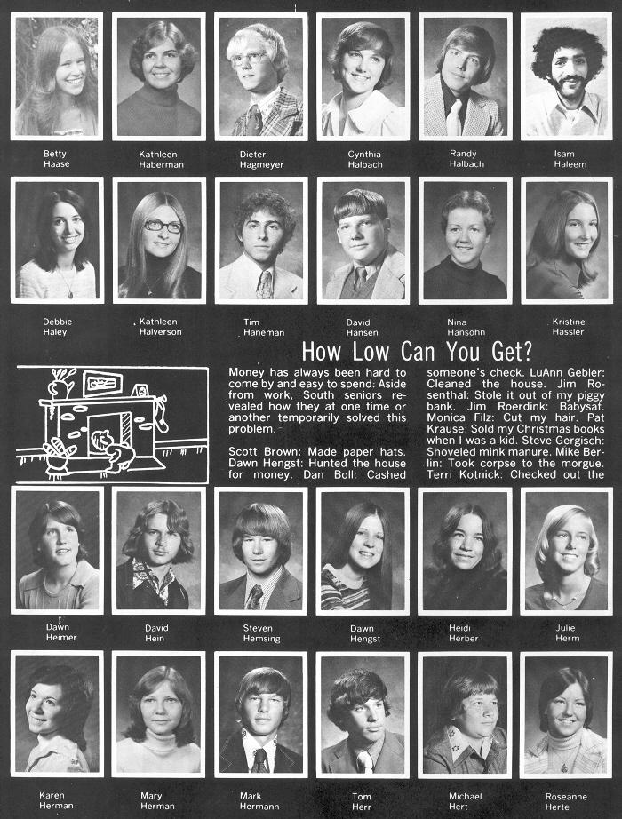 1976 sheboygan south high school yearbook